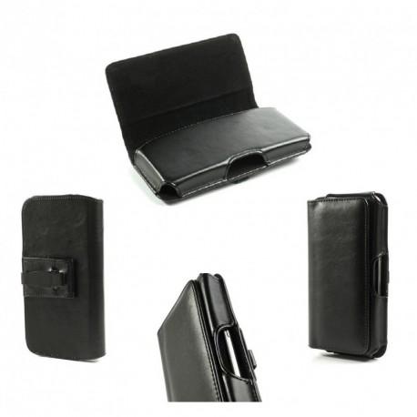 Funda cinturon horizontal diseño ejecutivo y clip metalico para - tianhe w9002