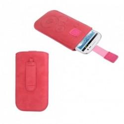 Funda diseño circulos pasador cinturon cierre velcro para tianhe w9002 - rosa