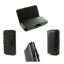 Funda cinturon horizontal diseño ejecutivo y clip metalico para - tianhe w900