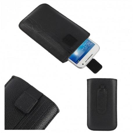 Funda diseño lineas pasador cinturon cierre velcro para tianhe w900 - negra