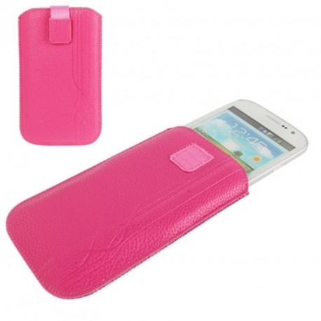 Funda diseño lineas pasador cinturon cierre velcro para tianhe w900 - rosa