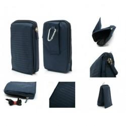 Funda multiusos cinturon y mosqueton para - tianhe w500 - azul