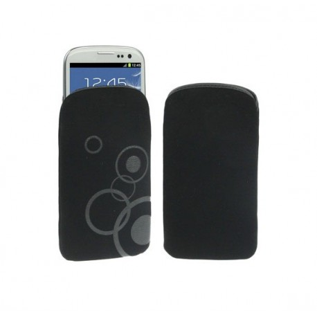 Funda de tela / paño suave y resistente para - tianhe w450 - negro