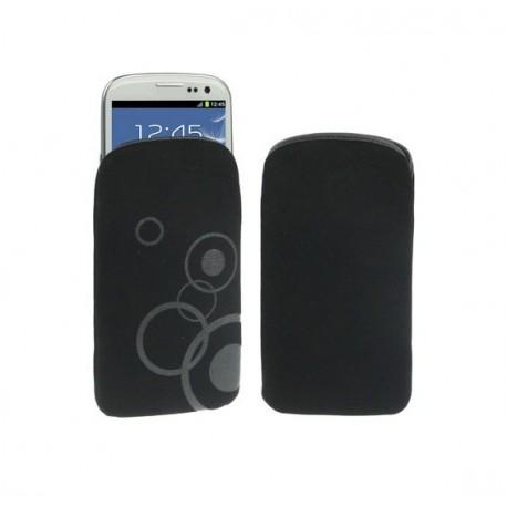 Funda de tela / paño suave y resistente para - tianhe i9377 - negro