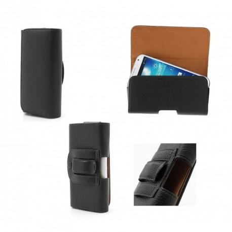 Funda cinturon clip horizontal piel sintetica premium para - timmy e120l - negra
