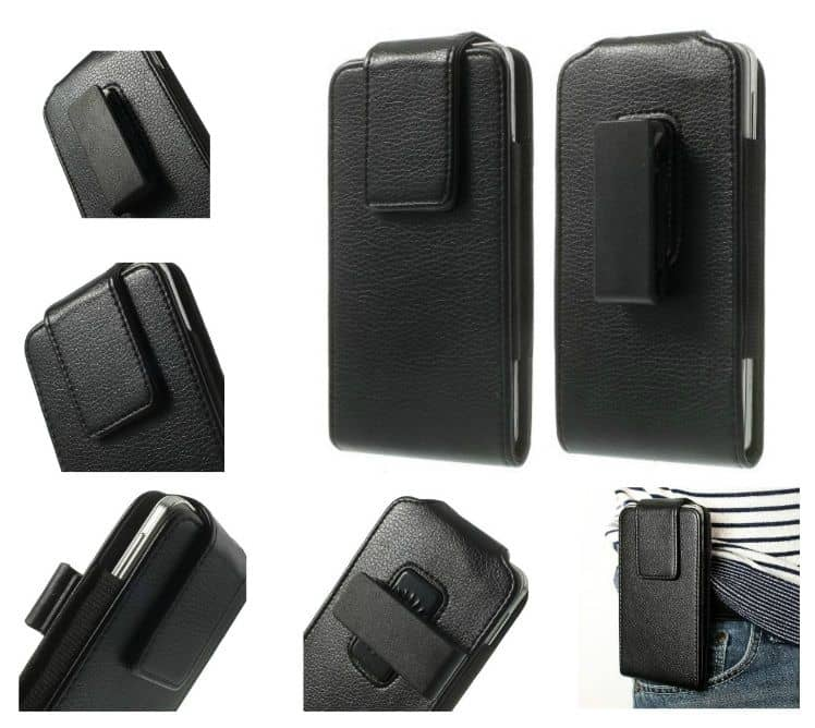Magnetic holster case belt clip rotary 360 for FUJITSU ARROWS M05 (2019) - Black