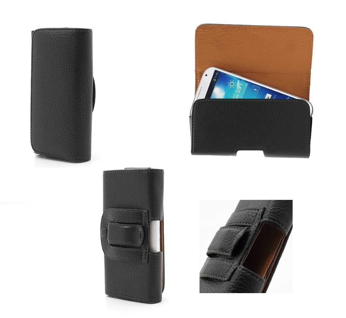Case Belt Clip Horizontal for QMOBILE I8I (2019) - Black