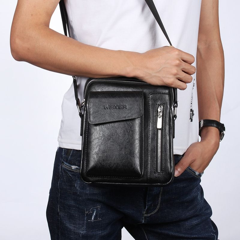 Bag Leather Waist Shoulder bag compatible with Ebook, Tablet and for Samsung Galaxy S20+ (2020) - Black