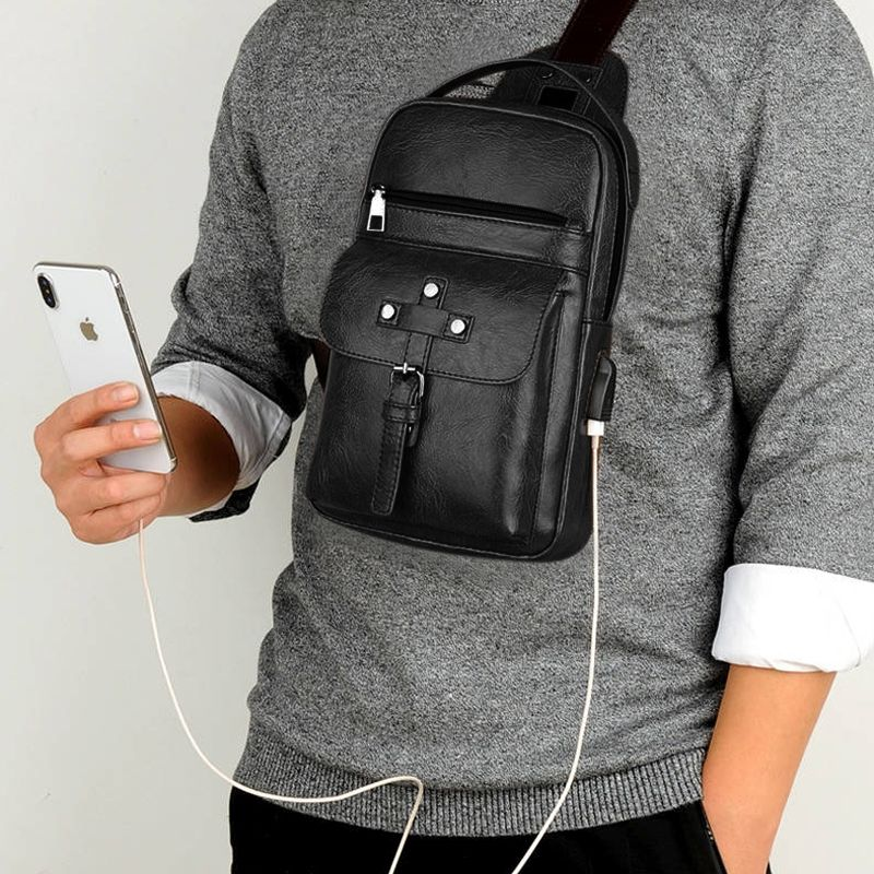 Backpack Waist Shoulder bag compatible with Ebook, Tablet and for Samsung Galaxy S20+ (2020) - Black