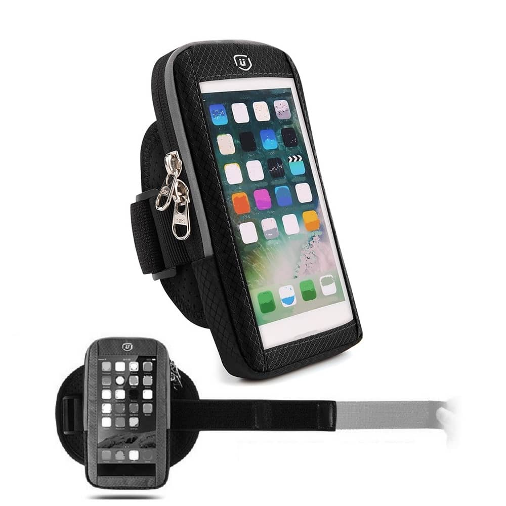 Waterproof Reflective Armband Case with Touchscreen with 2 Compartments Sport Running Walking Cycling Gym for Samsung Galaxy S20+ (2020)