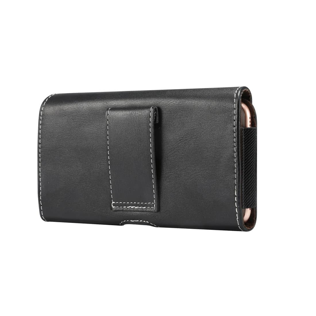 New Design Horizontal Leather Holster with Belt Loop for Samsung Galaxy S20+ (2020) - Black