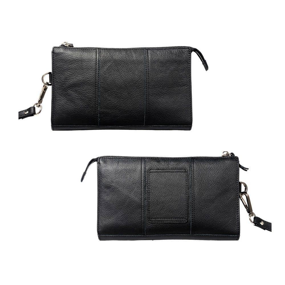 Exclusive Genuine Leather Case New Design Handbag compatible with Samsung Galaxy S20+ (2020) - Black